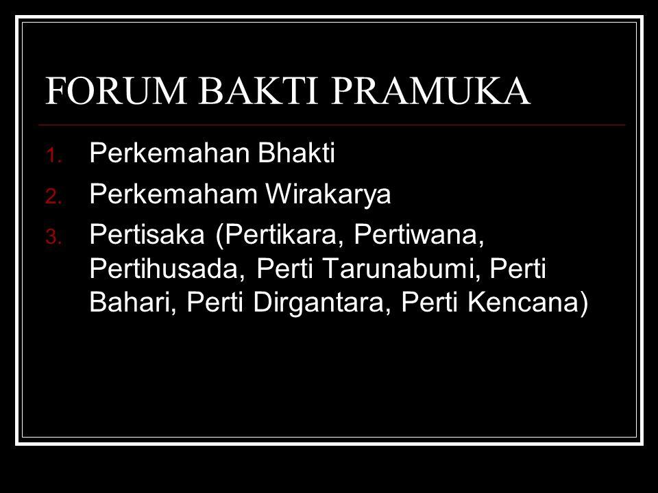 FORUM BAKTI PRAMUKA 1.Perkemahan Bhakti 2. Perkemaham Wirakarya 3.