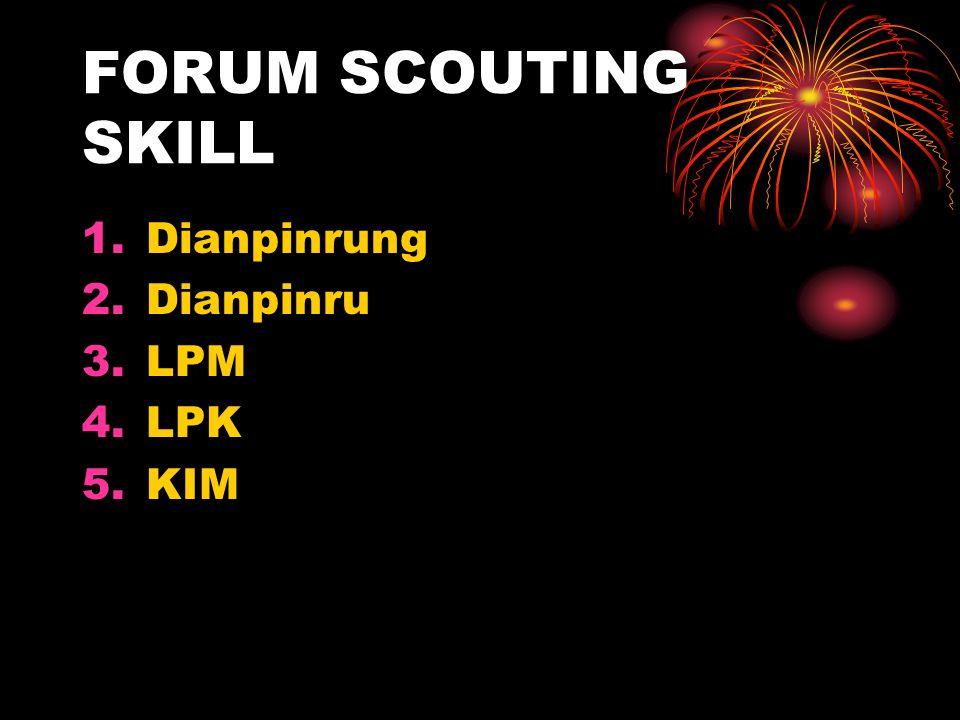 FORUM SCOUTING SKILL 1.Dianpinrung 2.Dianpinru 3.LPM 4.LPK 5.KIM