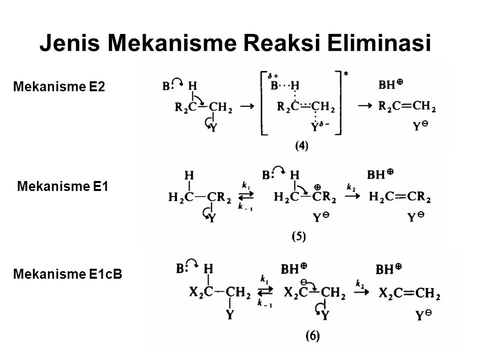 Jenis Mekanisme Reaksi Eliminasi Mekanisme E2 Mekanisme E1 Mekanisme E1cB
