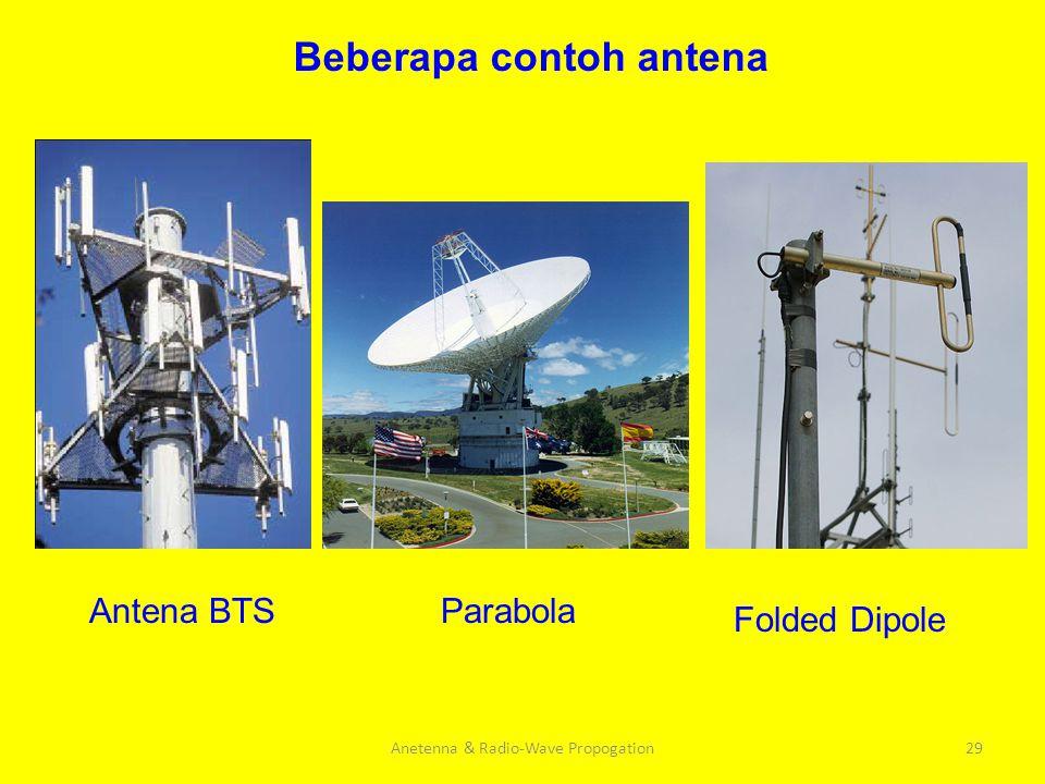 Anetenna & Radio-Wave Propogation29 Beberapa contoh antena Folded Dipole ParabolaAntena BTS