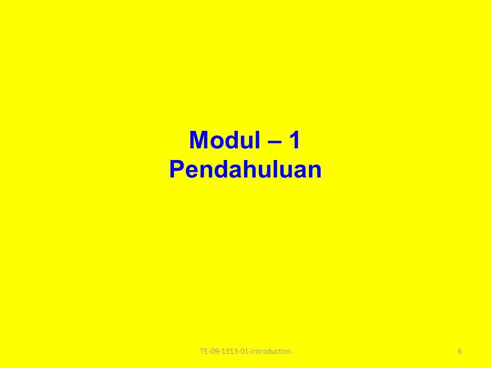 Modul – 1 Pendahuluan TE-09-1313-01-Introduction6