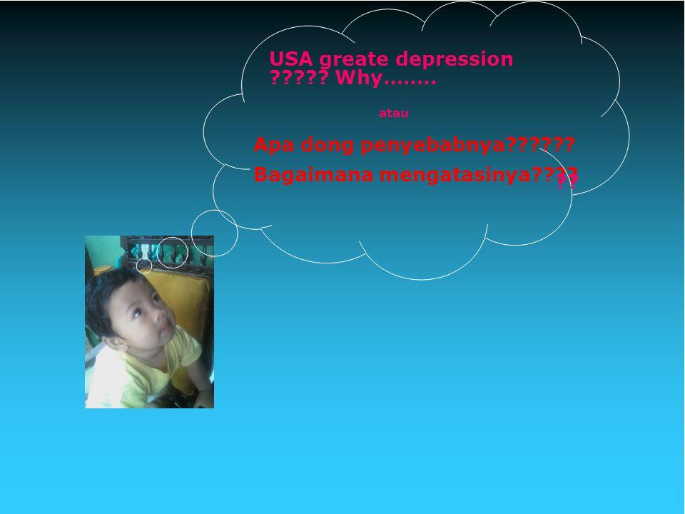 USA greate depression ????? Why…….. Apa dong penyebabnya?????? Bagaimana mengatasinya???? ?? atau