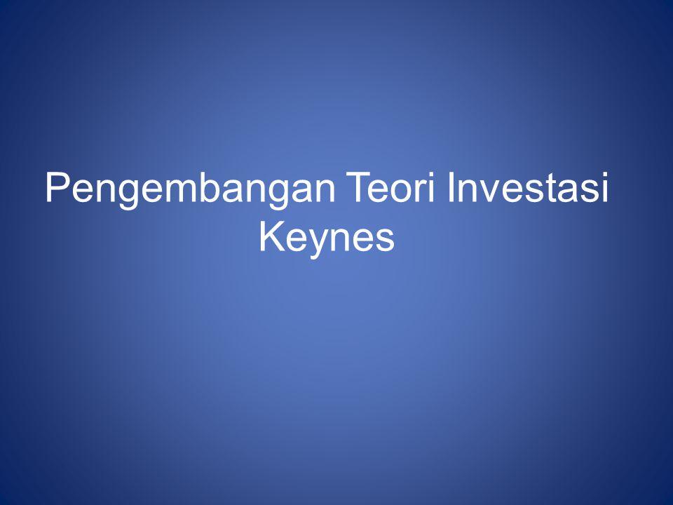Pengembangan Teori Investasi Keynes