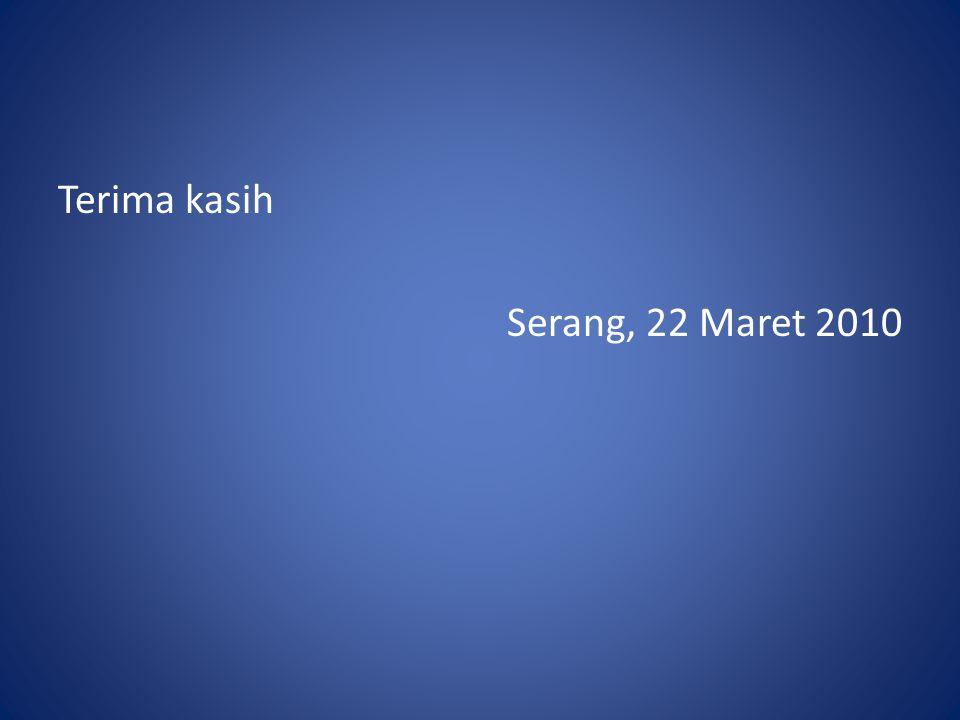 Terima kasih Serang, 22 Maret 2010