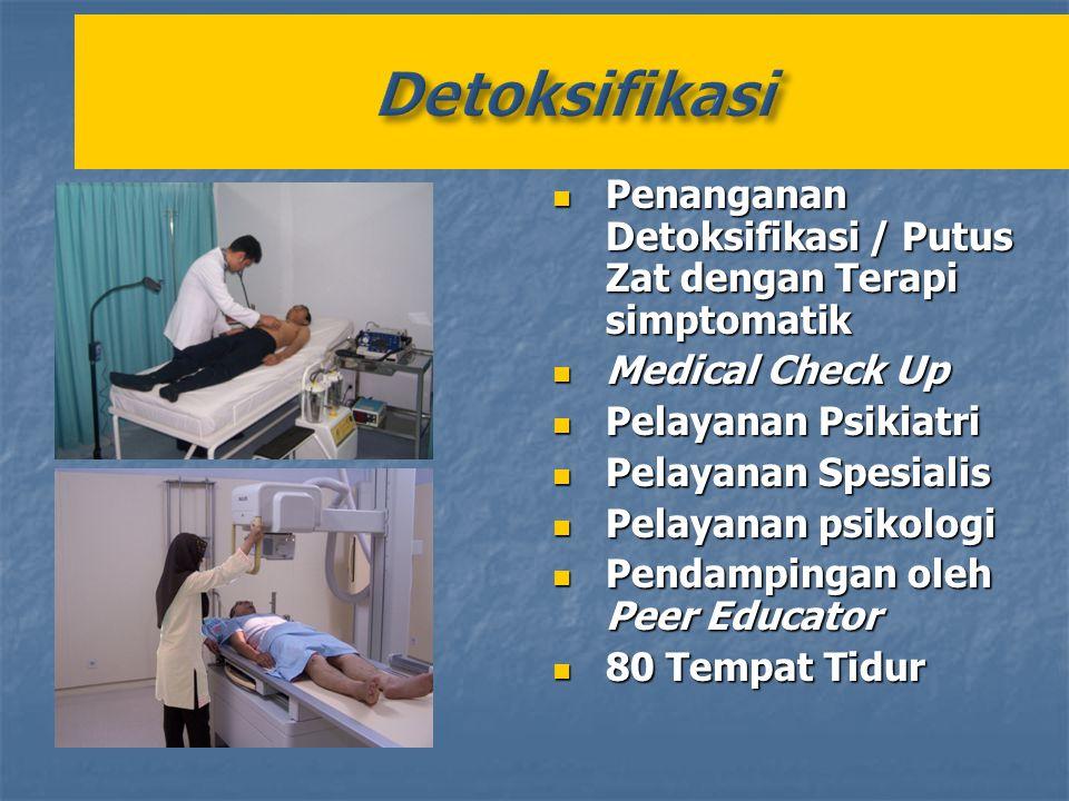Penanganan Detoksifikasi / Putus Zat dengan Terapi simptomatik Penanganan Detoksifikasi / Putus Zat dengan Terapi simptomatik Medical Check Up Medical