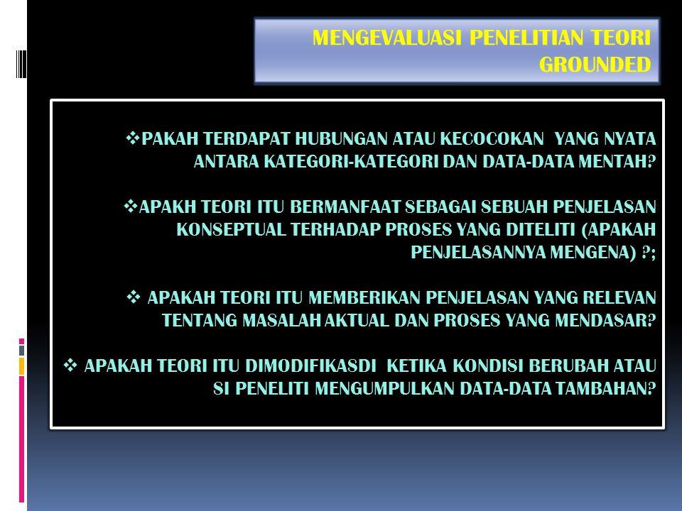  GUNAKAN PENGKODEAN SELEKTIF DAN KEMBANGKAN TEORI;  Pengaitan kategori-kategori di dalam paradigma pengkodean;  Memperbaiki paradigma pengkodean ak