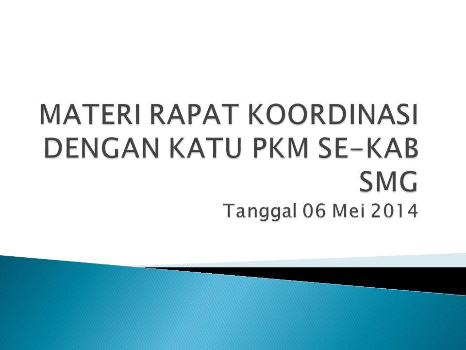 Pelatihan PPGDON untuk bidan yang akan dilaksanakan pada tanggal 23 s.d 25 Mei 2014 bertempat di gedung PAUD – NI Ungaran yang akan diikuti oleh 30 bidan wilayah UPTD Puskesmas se Kab.
