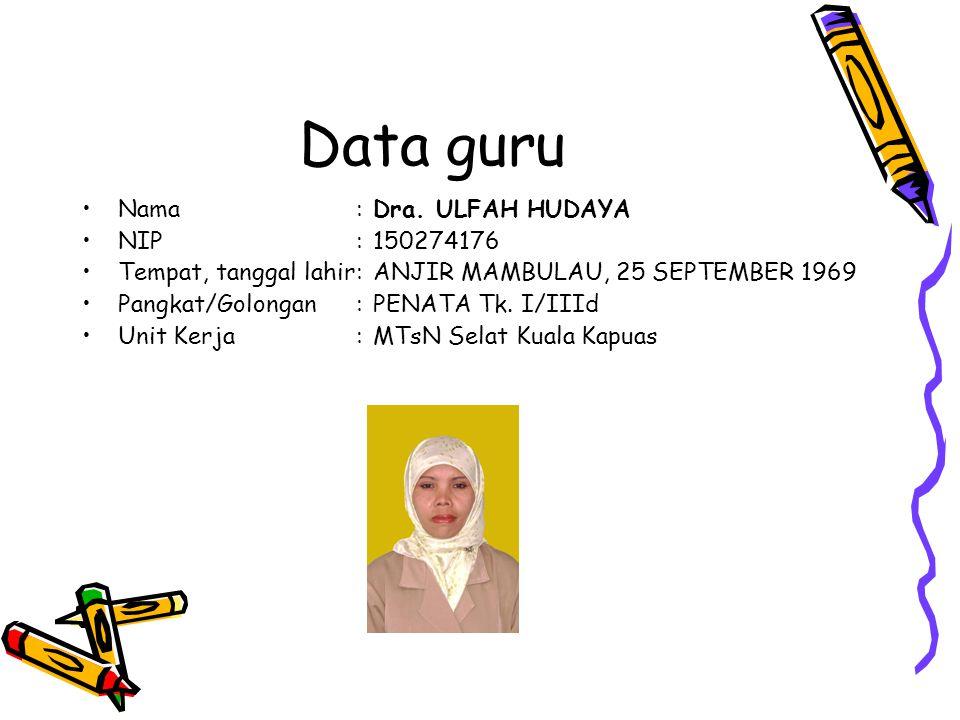 Data guru Nama:Dra.
