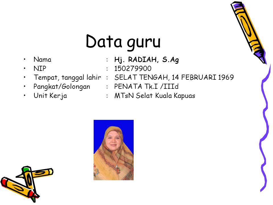 Data guru Nama:Hj.