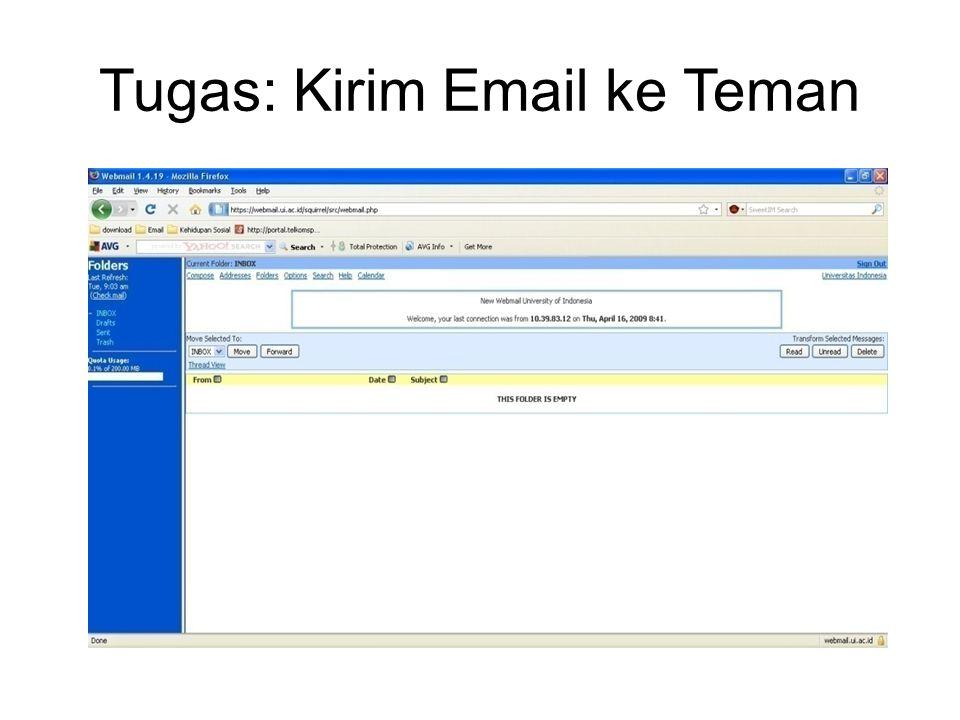 Tugas: Kirim Email ke Teman