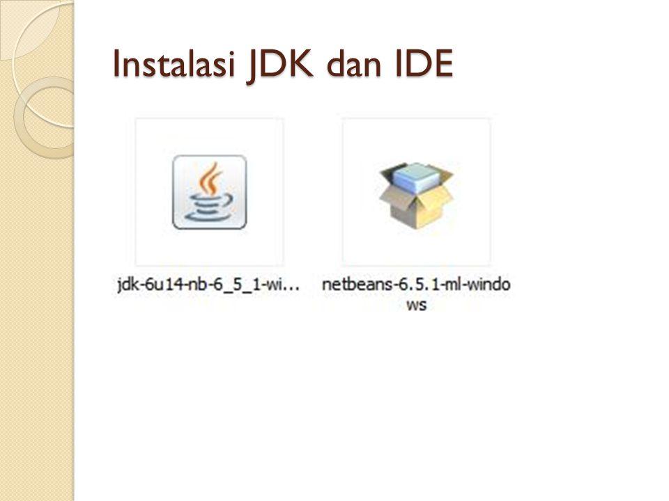 Instalasi JDK dan IDE