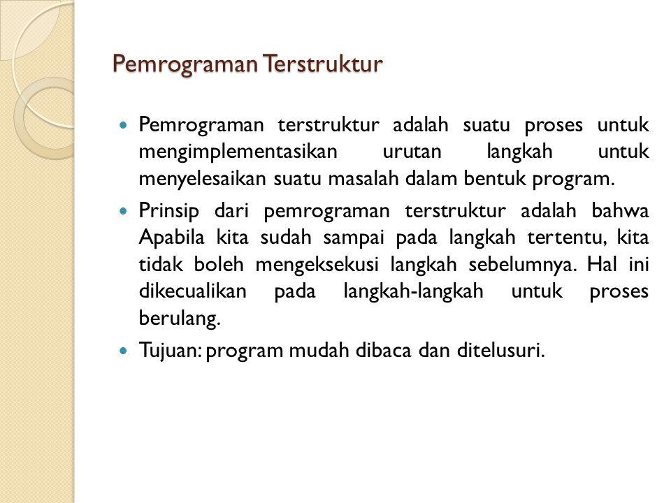 Struktur Program Java (5) Case Sensitive Comment //untuk satu baris kode /* ….