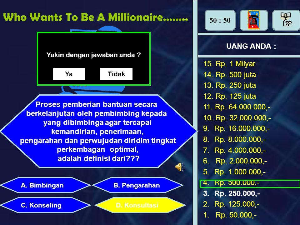 Who Wants To Be A Millionaire……..UANG ANDA : Perhiasan apa yang dipasang di tangan adalah : A.