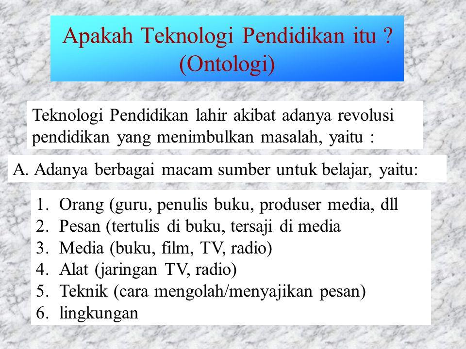 Apakah Teknologi Pendidikan itu .