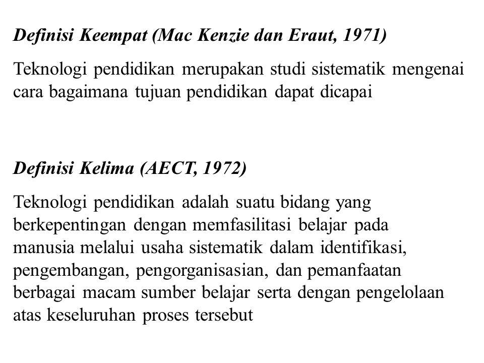 Definisi kedua (Komisi TP, 1970) Teknologi pembelajaran merupakan usaha sistematik dalam merancang, melaksanakan, mengevaluasi keseluruhan proses bela