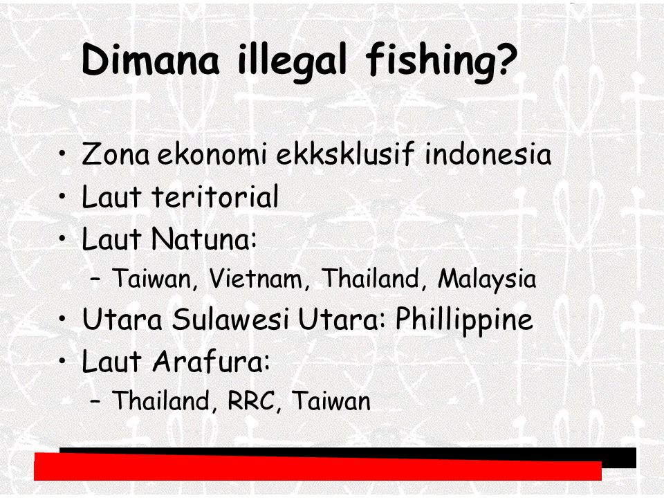 Dimana illegal fishing.