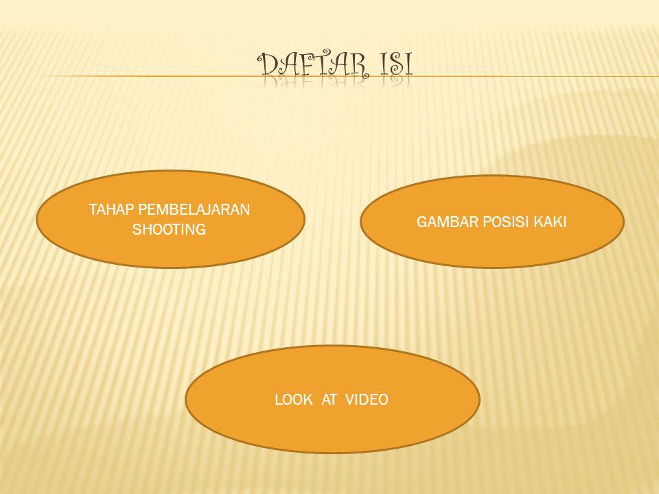 TAHAP PEMBELAJARAN SHOOTING GAMBAR POSISI KAKI LOOK AT VIDEO