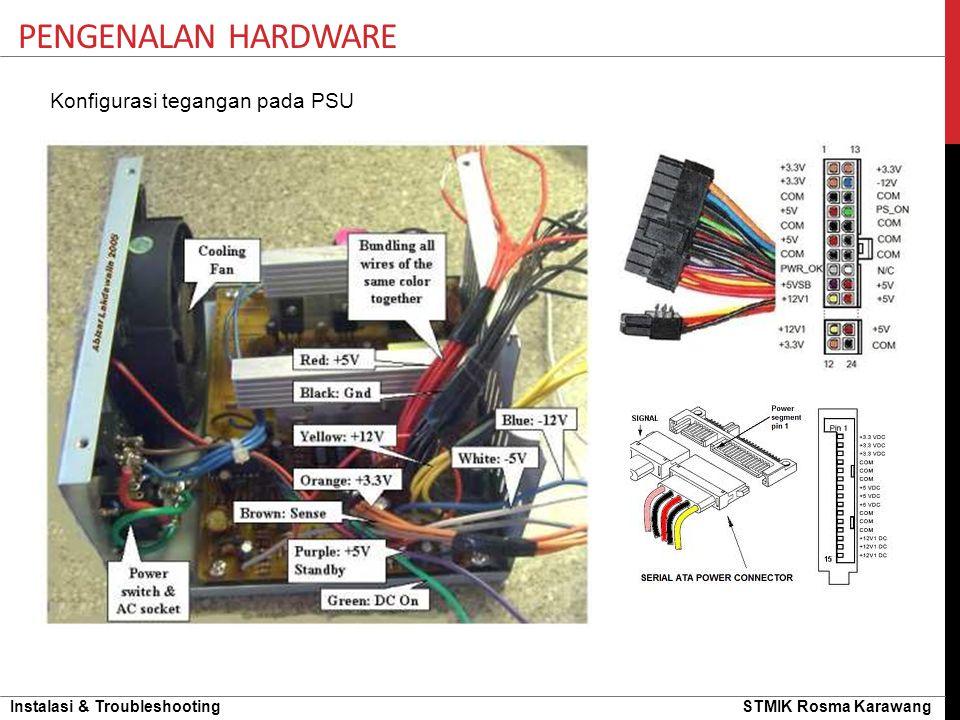Instalasi & Troubleshooting STMIK Rosma Karawang PENGENALAN HARDWARE Konfigurasi tegangan pada PSU