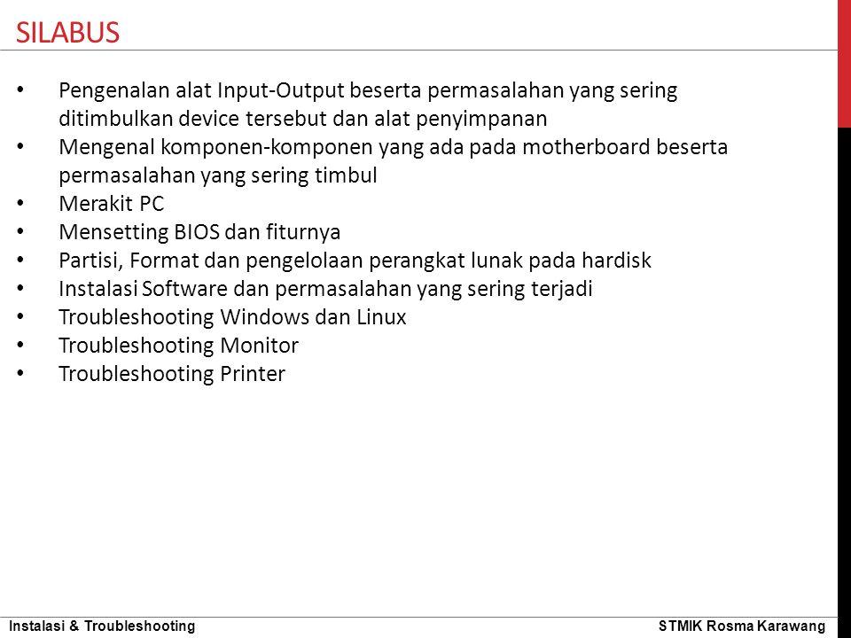 Instalasi & Troubleshooting STMIK Rosma Karawang Coba Jawab…..