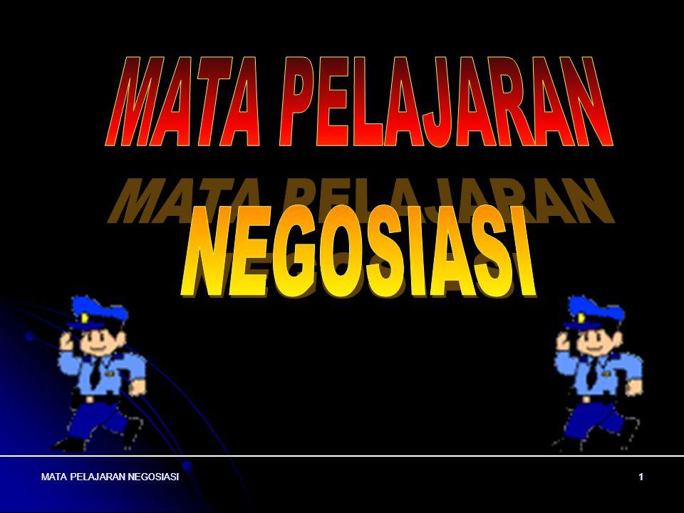 MATA PELAJARAN NEGOSIASI11 MATA PELAJARAN NEGOSIASI 11 MODEL NEGOSIASI * MODEL 2 MEMPUNYAI 3 TAHAP YAITU : 1.