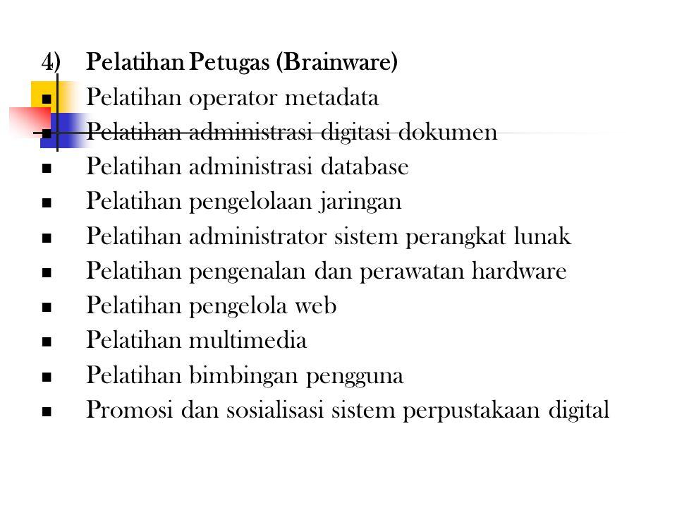 3)Pengadaan Perangkat Jaringan (Netware) Perlengkapan jaringan lokal (LAN/INTRANET, minimal 100 Mbps) Menyediakan jaringan global (INTERNET, minimal 1