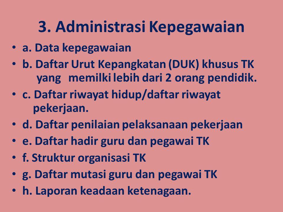 2.Administrasi Kemuridan/kesiswaan a. Buku penerimaan peserta didik baru b.