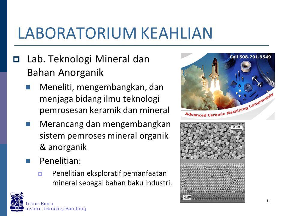 Teknik Kimia Institut Teknologi Bandung LABORATORIUM KEAHLIAN  Lab.