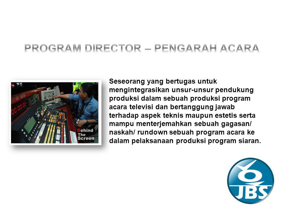 Untuk sebuah produksi televisi, rundown merupakan panduan yang dijadikan acuan seorang program director atau pengarah acara dalam menjalankan sebuah acara televisi.