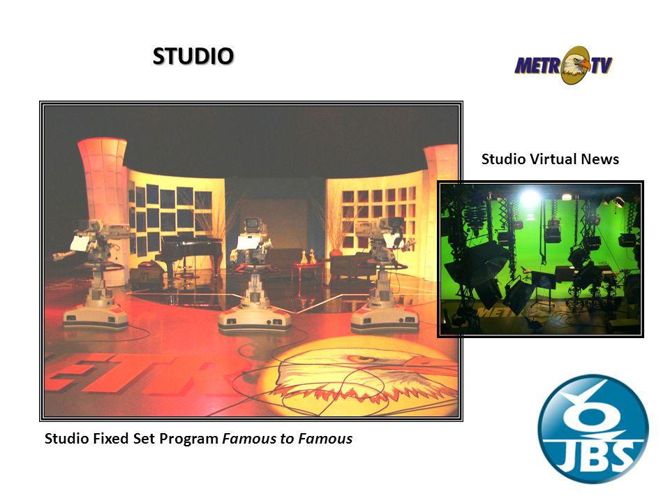 STUDIO Studio Fixed Set Program Famous to Famous Studio Virtual News