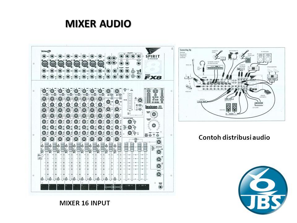 MIXER AUDIO MIXER 16 INPUT Contoh distribusi audio
