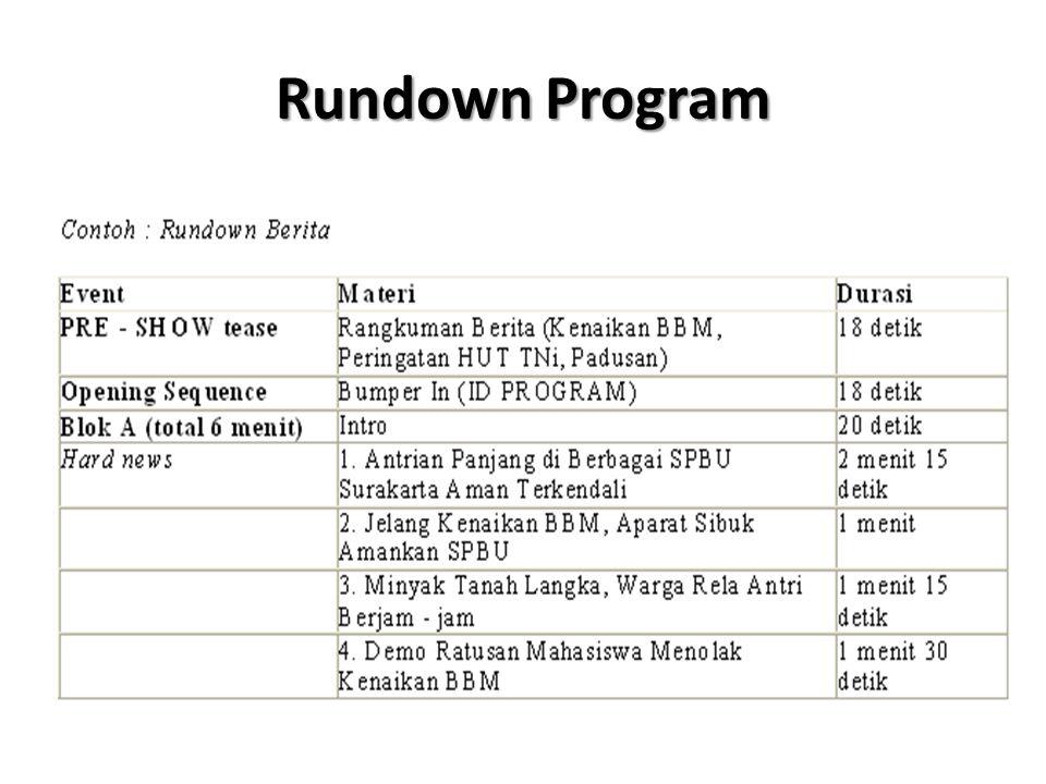Rundown Program