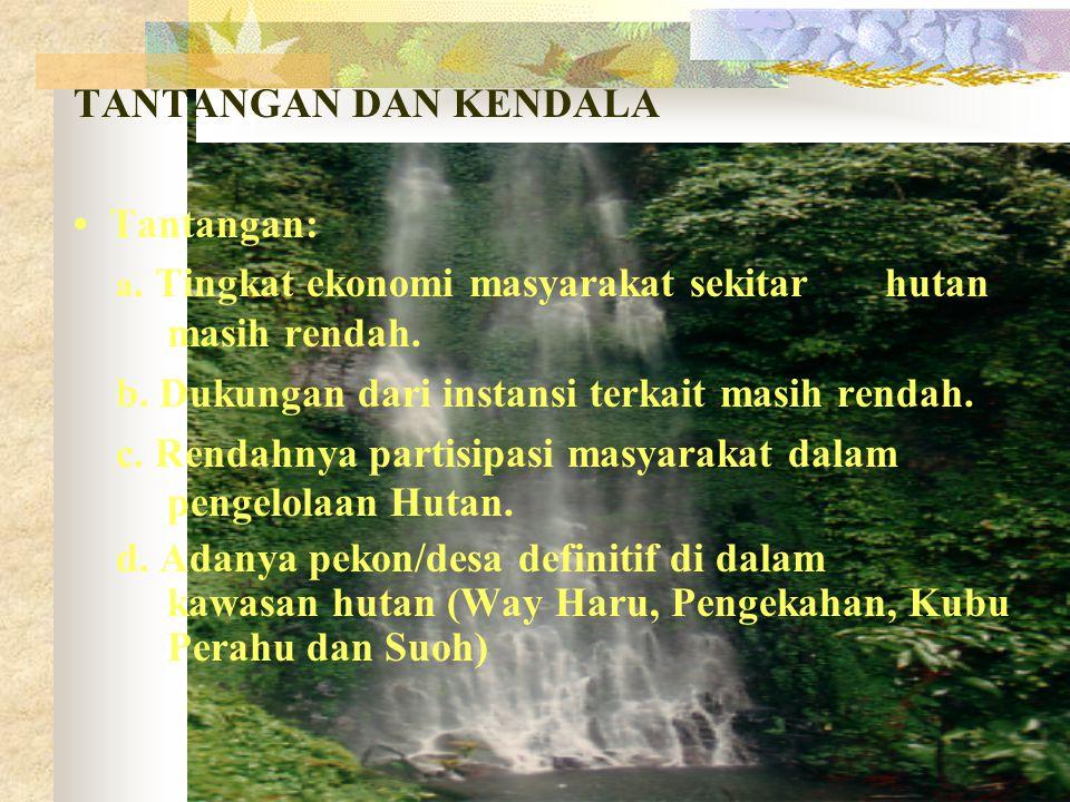 POTENSI HUTAN LAMPUNG BARAT - Merupakan cactchment area untuk Kabupaten Tanggamus, Lampung Tengah, Lampung Utara, Tulang Bawang, Way Kanan, Ogan Komer