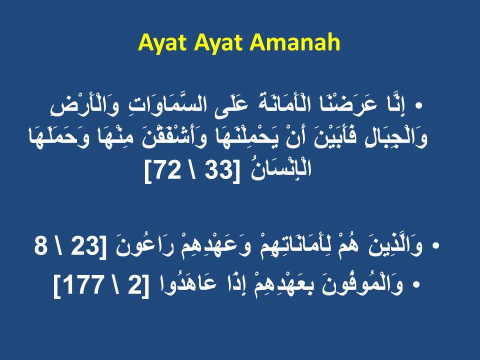 Makna Amanah 1.