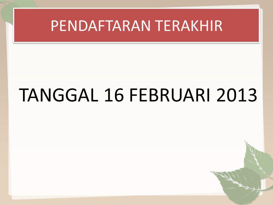HARGA TIKET UNTUK SPORTER Tanggal, 23 Februari 2013: Rp.3000/tiket Tanggal, 24 Februari 2013: Rp.5000/tiket