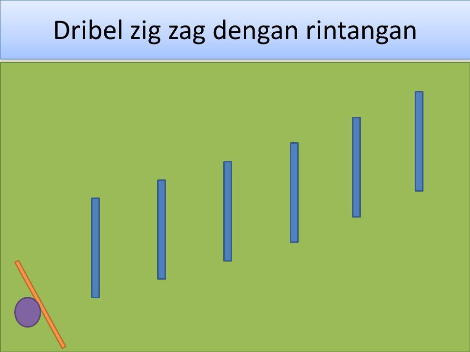 Dribel zig zag dengan rintangan