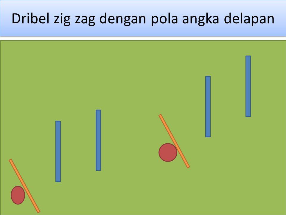 Dribel zig zag dengan pola angka delapan