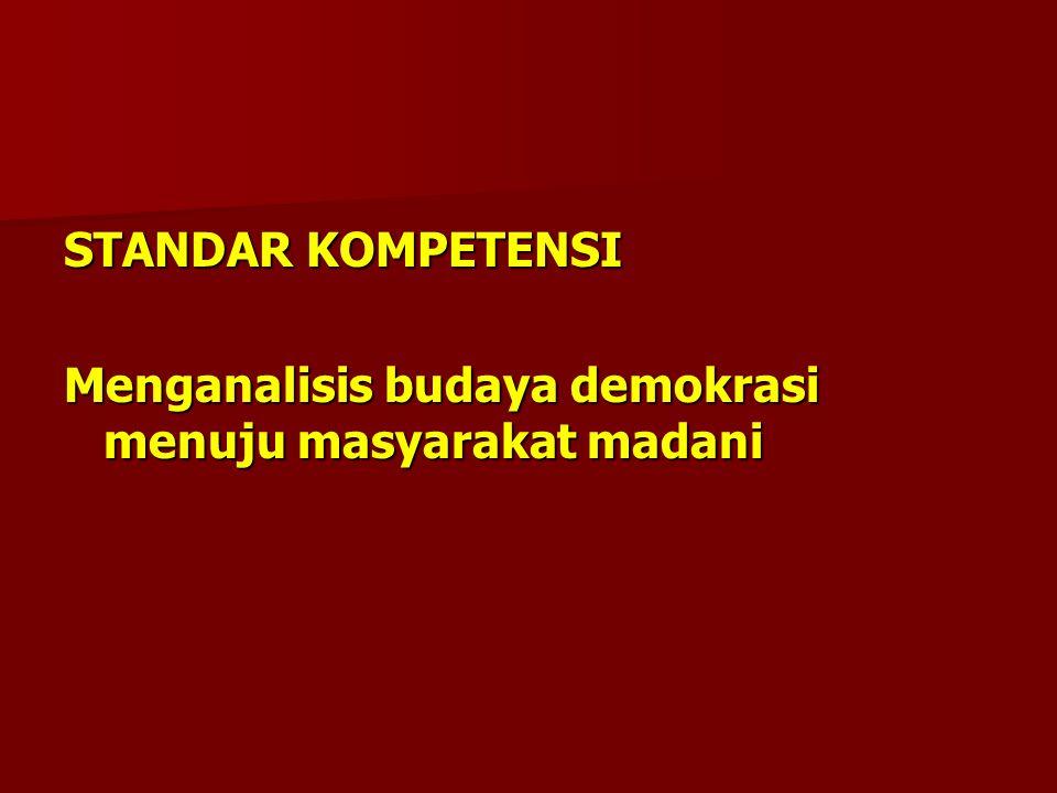 KARAKTERISTIK MASYARAKAT MADANI a.