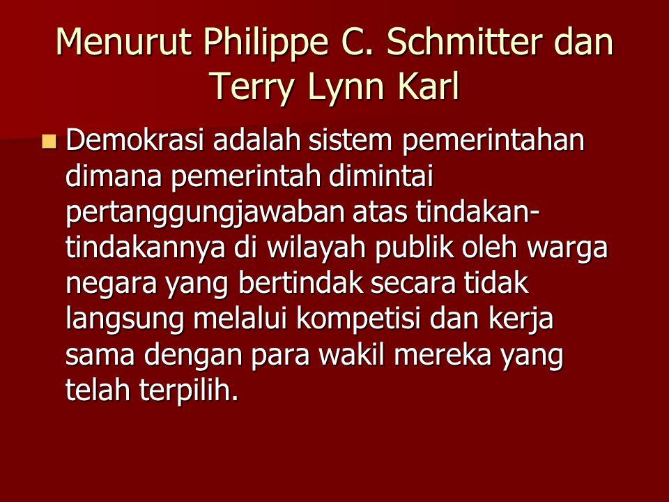 Menurut Philippe C.