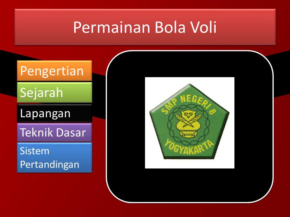 Pengertian Bola Voli Bola Voli berasal dari kata dalam bahasa Inggris yaitu Volleyball .