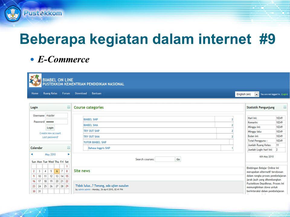 Beberapa kegiatan dalam internet #9 E-Commerce