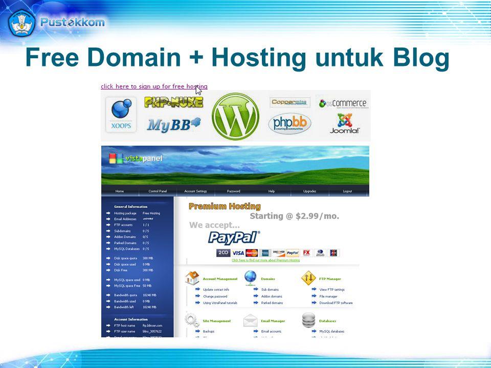Free Domain + Hosting untuk Blog