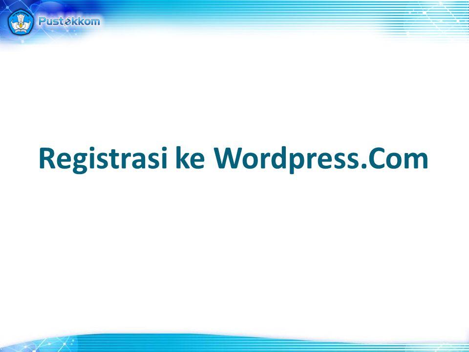 Registrasi ke Wordpress.Com