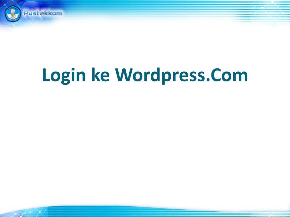 Login ke Wordpress.Com