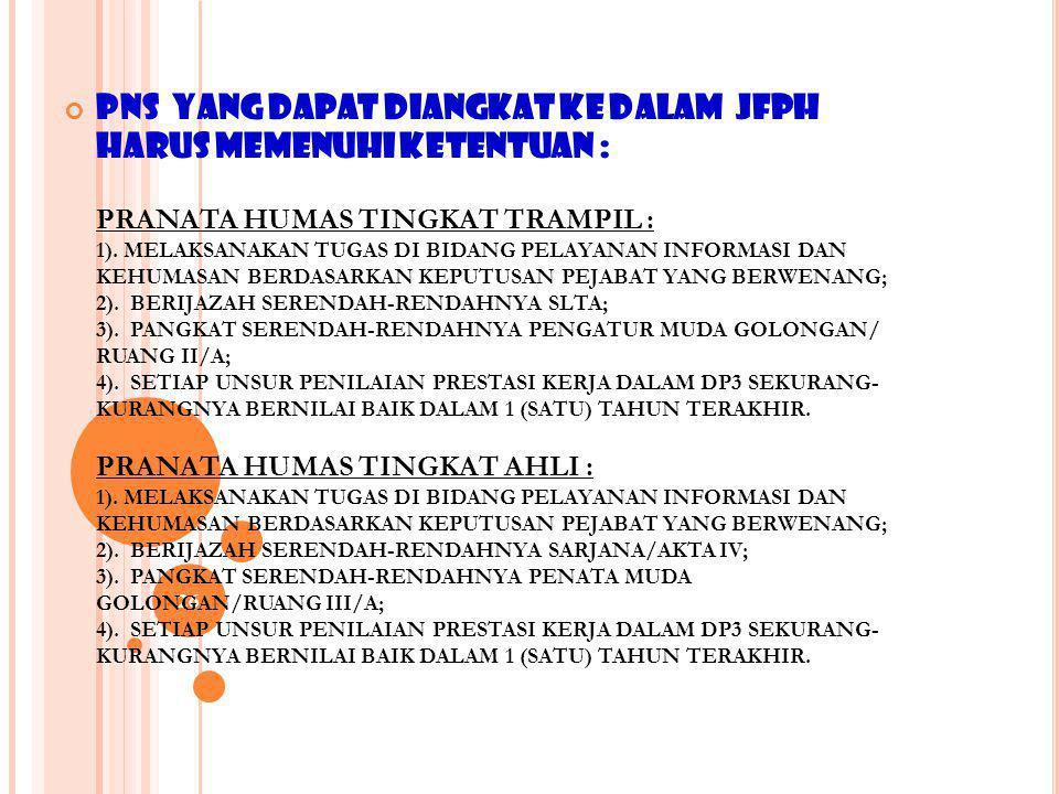 25 D.KENAIKAN JABATAN DAN PANGKAT 1.KENAIKAN JABATAN SEORANG PEJABAT FUNGSIONAL PRANATA HUMAS DAPAT DIPERTIMBANGKAN : A. SEKURANG-KURANGNYA TELAH 1(SA