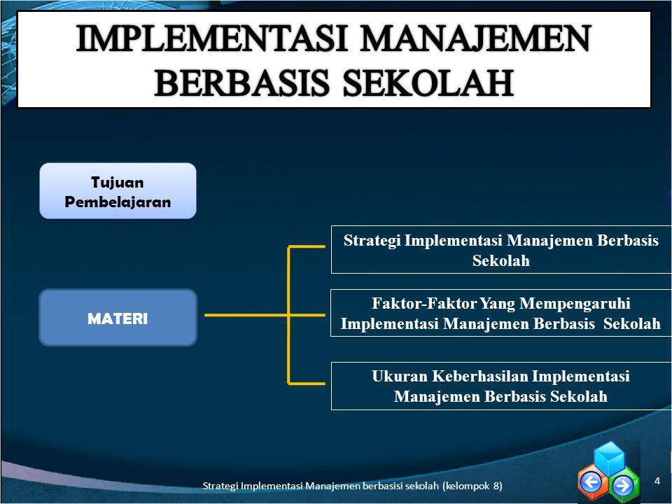 Ukuran penting keberhasilan MBS Prestasi belajar siswa Apakah keberhasilan implementasi MBS hanya diukur dengan prestasi belajar siswa saja.
