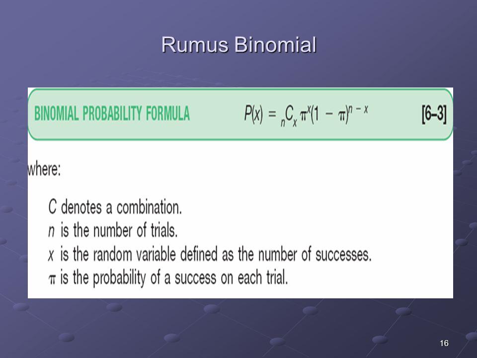 16 Rumus Binomial