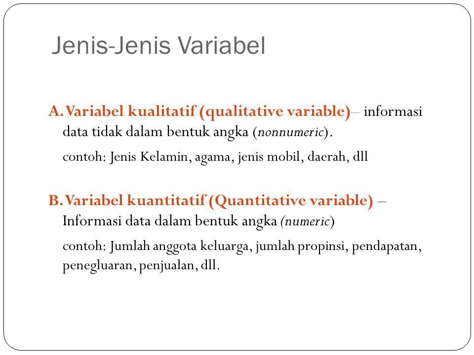Jenis-Jenis Variabel 9 A.