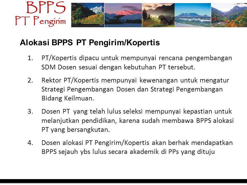 1.PT/Kopertis dipacu untuk mempunyai rencana pengembangan SDM Dosen sesuai dengan kebutuhan PT tersebut. 2.Rektor PT/Kopertis mempunyai kewenangan unt