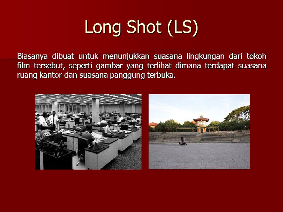 Long Shot (LS) Biasanya dibuat untuk menunjukkan suasana lingkungan dari tokoh film tersebut, seperti gambar yang terlihat dimana terdapat suasana rua