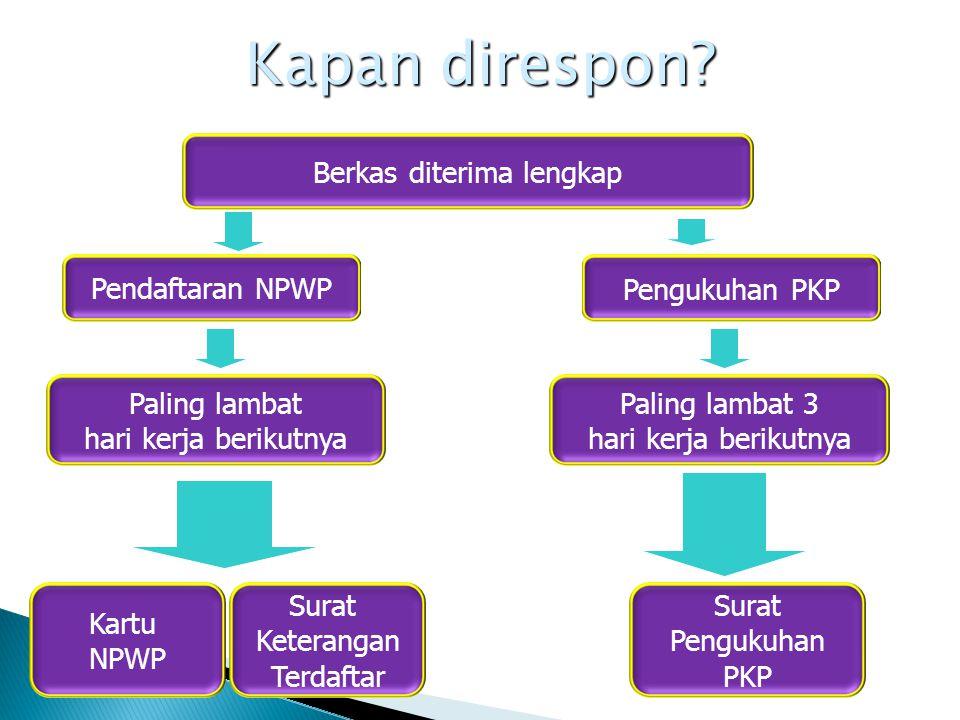 Penerbitan NPWP dan PKP secara Jabatan NPWP dan/atau pengukuhan PKP secara Jabatan WP telah menenuhi persyaratan objektif dan subjektif namun tidak mau mendaftar Pengusaha yang dikenai PPN namun tidak melaporkan usahanya Kewajiban perpajakan bagi WP tersebut dimulai sejak saat WP memenuhi persyaratan subjektif dan objektif sesuai dengan ketentuan peraturan perundang-undangan perpajakan, paling lama 5 tahun sebelum diterbitkannya NPWP dan/atau dikukuhkannya sebagai PKP.